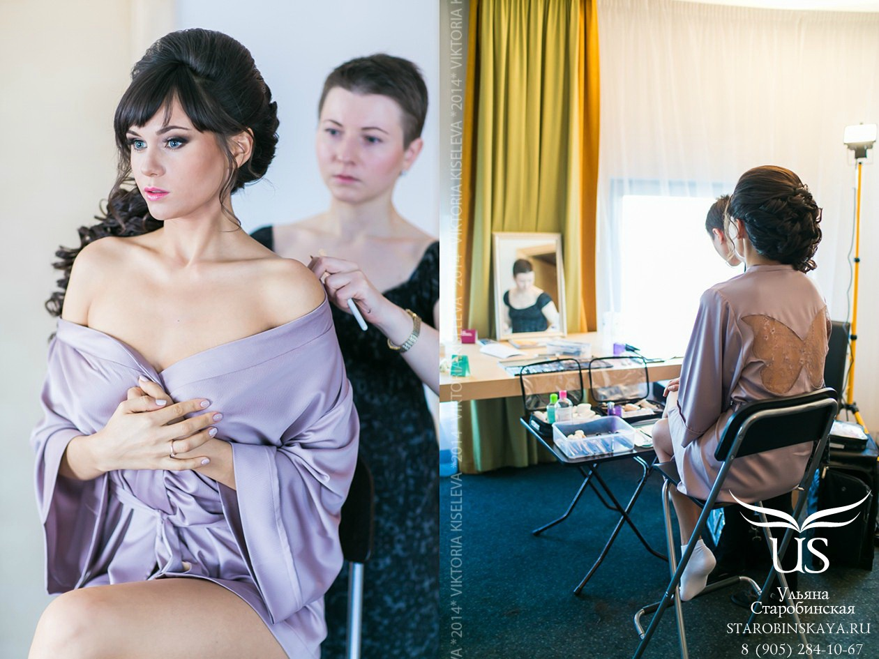 схема макияжа невесты