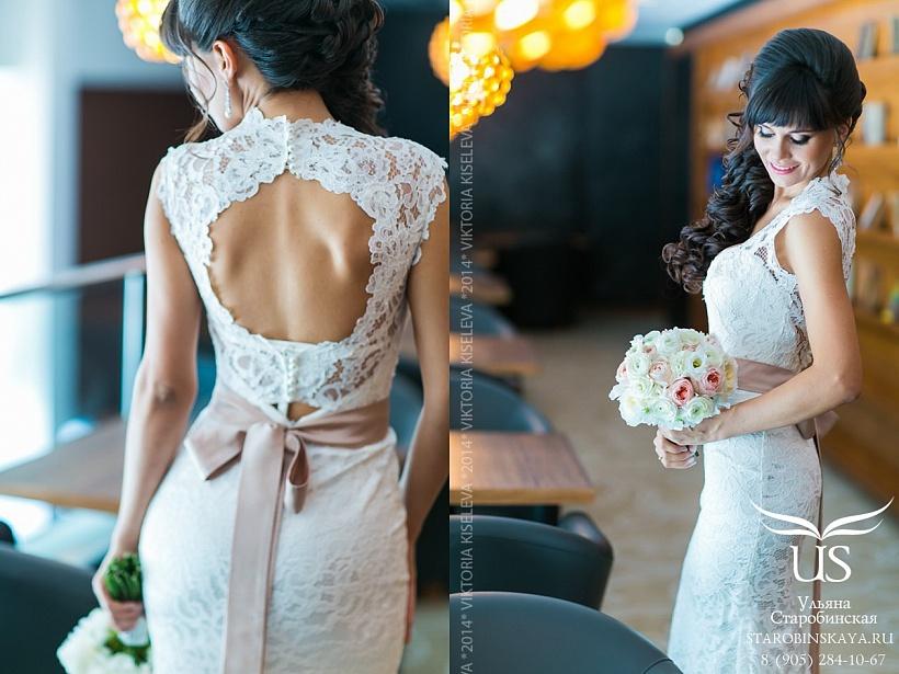 свадебные прически для шатенок фото