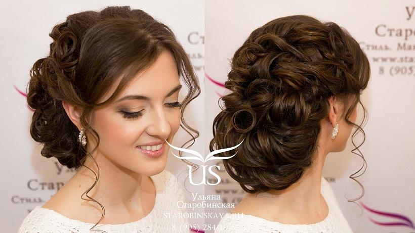 красивые свадебные прически на темные волосы